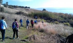 Walking around the Sea of Galilee